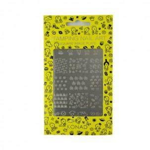 Пластина для стемпинга Konad Square Image Plate Happy
