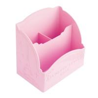 Подставка для кисточек на 3 отделения, цвет розовый