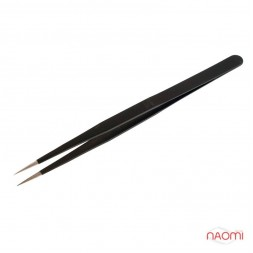Пинцет Salon Professional для наращивания ресниц, черный, 12 см