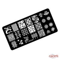 Пластина пластиковая для стемпинга Kodi Professional L 07, 6х12 см