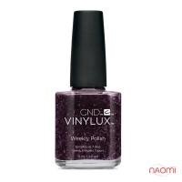 Лак CND Vinylux Weekly Polish 198 Poison Plum фіолетово-баклажановий з блискітками, 15 мл
