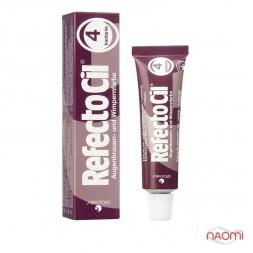Краска для бровей и ресниц RefectoCil №4 Chesnut, цвет каштановый, 15 мл