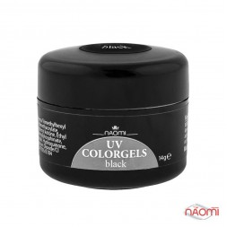 Гель Naomi камуфляжний UV Colorgels Black чорний, 14 г