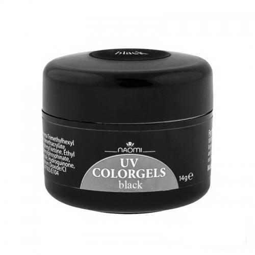 Гель Naomi камуфляжний UV Colorgels Black чорний, 14 г, фото 1, 165.00 грн.