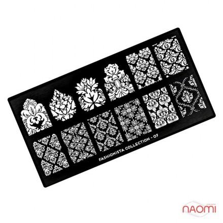 Пластина для стемпинга MoYou London серии Fashionista Collection 07 Ажур, кружева, фото 1, 225.00 грн.