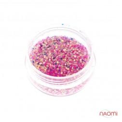 Декор для ногтей в баночке Starlet Professional (а) Песок и чешуя, цвет розовый