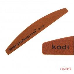 Пилка для ногтей Kodi Professional 100/180 Half Brown, полукруг