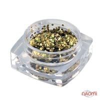 Декор для ногтей Salon Professional Чешуя, цвет золото с голограммой, средняя 040 Gold Alpha