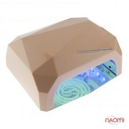 УФ LED+CCFL лампа для гель-лаків і гелю 36W, з таймером 10, 30 і 60 с, колір шампань