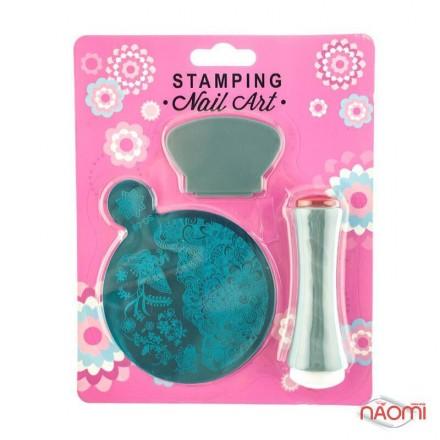 Набор для стемпинга Stamping Nail Art SG 06 (K-174), штамп, скрапер и пластина, фото 1, 80.00 грн.