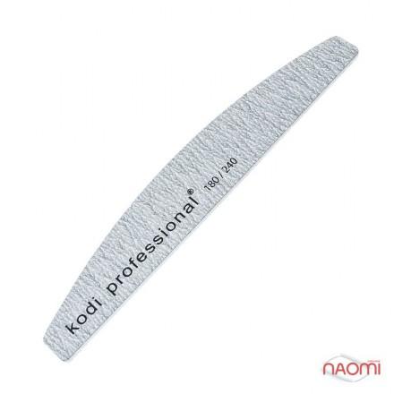 Пилка для нігтів Kodi Professional 180/240 Half Grey, півкруг, фото 1, 18.00 грн.