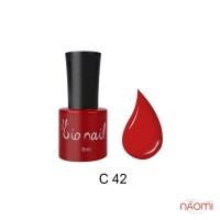 Гель лак BioNail C 042 яркий красный, 8 мл
