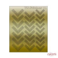 Металлизированные наклейки № 17 узор, цвет золото
