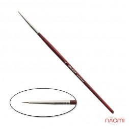 Кисть для рисования MILEO № 1, натуральный ворс, с красной ручкой