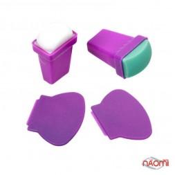 Фирменный набор для стемпинга BUNDLEMONSTER, из двух штампов: силикон и резина