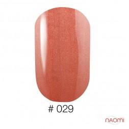 Лак Naomi 029 оранжево-персиковый с перламутром, 12 мл