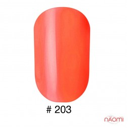 Лак Naomi 203 оранжевый неон, 12 мл