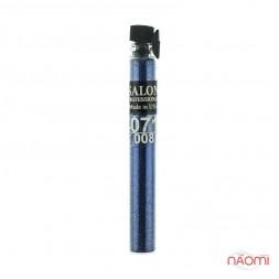 Блестки Salon Professional, размер 008 071 цвет синий, в пробирке
