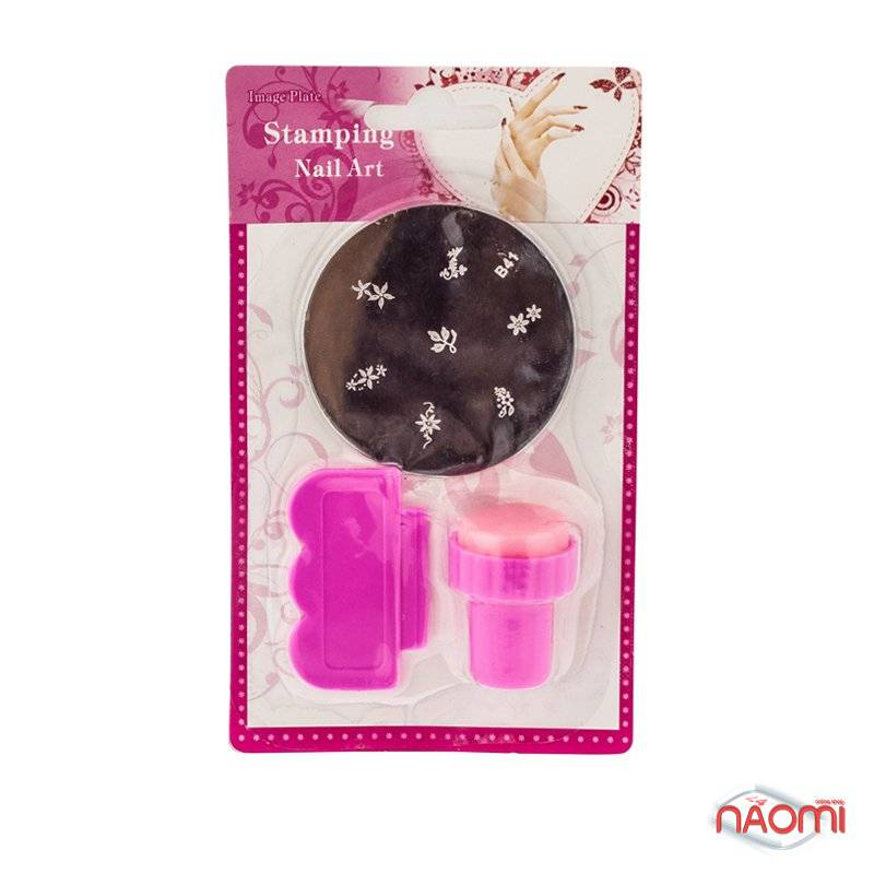 Набор для стемпинга (малый) Stamping Nail Art, штамп, скрапер и пластина, фото 3, 38.00 грн.