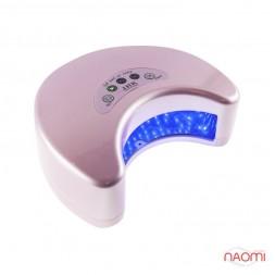 УФ LED лампа светодиодная J.H.K. 6036, таймер 30 60 и 90 сек,цвет розовый