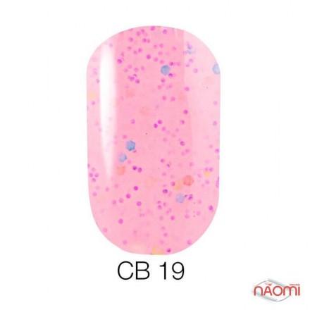 Гель-лак Naomi Candy Bar 019 молочный розовый, с конфетти, 6 мл, фото 1, 55.00 грн.