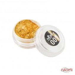 Зеркальная пудра для втирки Nice For You Professional 001, цвет золото, 1 г