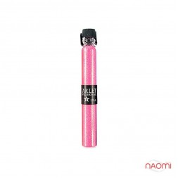 Блискітки Starlet Professional для декору нігтів, колір рожевий в пробірці