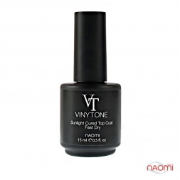 Топ для лака Naomi VINYTONE Sunlight Cured Top Coat Fast Dry, 15 мл