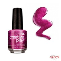Лак CND Creative Play 487 Rsvplum фиолетовый с шиммерами, 13,6 мл