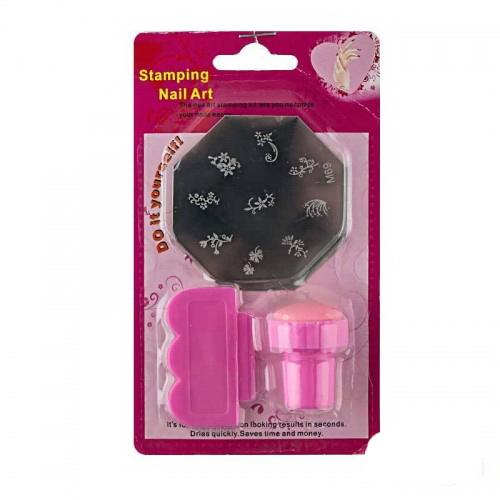Набор для стемпинга (малый) Stamping Nail Art, штамп, скрапер и пластина, фото 1, 38.00 грн.