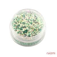 """Декор для нігтів в баночці Starlet Professional (а) """"Пісок і луска"""" колір бірюза"""