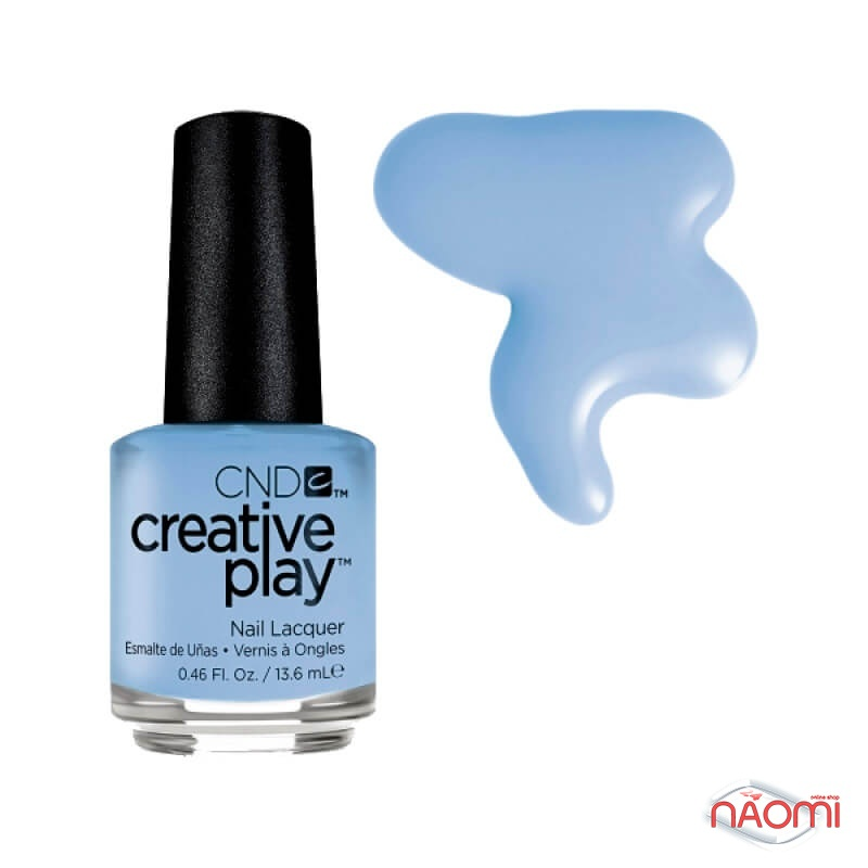 Лак CND Creative Play 438 Iris You Would, голубой, 13,6 мл, фото 1, 129.00 грн.