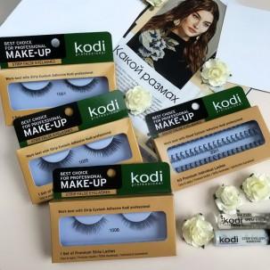 Ресницы накладные Kodi Professional № 1006, на ленте, черные