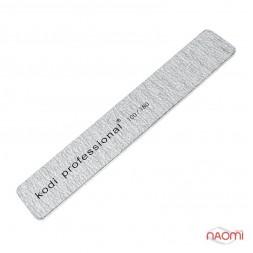 Пилка для нігтів Kodi Professional 100/180 Half Grey, пряма широка
