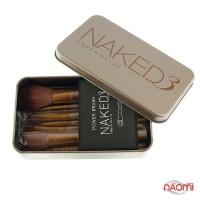 Набор кистей Naked 3 для макияжа, смешанный ворс (в наборе 12 шт.)