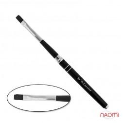 Пензель для нарощування G. Lacolor 8, прямий, з чорною ручкою, штучний ворс