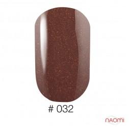 Лак Naomi 032 шоколадный с розовым микроблеском, 12 мл