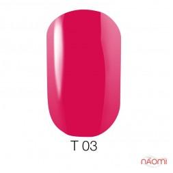 Лак Naomi T003 малиновый полупрозрачный, 12 мл