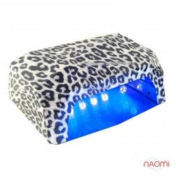 УФ LED+CCFL лампа для гель-лаков и геля 36W, с таймером 10, 30 и 60 сек., леопард серый