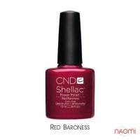 CND Shellac Red Baroness, темний сливово-бордовий з перламутром, 7,3 мл