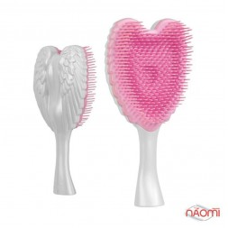Расческа Tangle Angel Cherub Brush White Pink, цвет розово-белый (15 см)