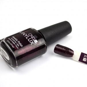 Лак CND Vinylux Weekly Polish 198 Poison Plum фиолетово-баклажанный с блестками, 15 мл