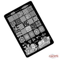 Пластина пластиковая для стемпинга Kodi Professional К 23 9,5х14,5 см