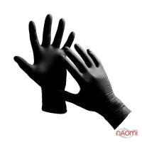 Перчатки нитриловые упаковка - 5 пар, размер S (без пудры), черные
