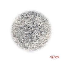 Бульонки для украшения ногтей Starlet Professional, стеклянные, цвет белый, в пакете, 8 г