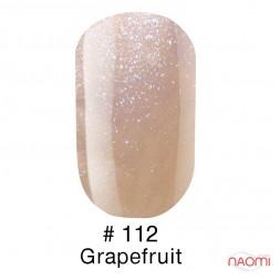 Гель-лак Naomi 112  Grapefruit бежево-розовый с шиммерами, 6 мл