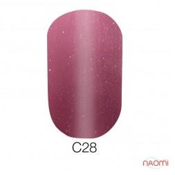 Гель-лак Naomi Cat Eyes С28 марсала с розовыми шиммерами, 6 мл