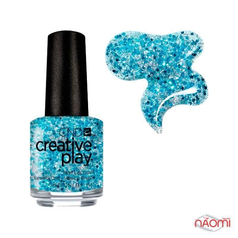 Лак CND Creative Play 459 Kiss Teal, голубой, 13,6 мл, фото 1, 129.00 грн.