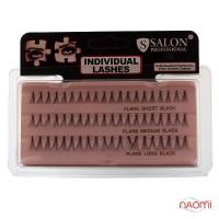 Пучковые ресницы Salon Professional, SHORT/MEDIUM/LONG / MIX, черные