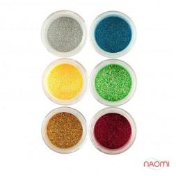 Глітерний пісок в баночці №7, Salon Professional, набір 6 шт.